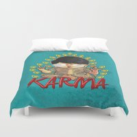 karma Duvet Covers featuring Karma by Seez