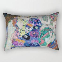 The Maiden Gustav Klimt Rectangular Pillow