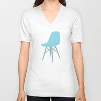 eames V-neck T-shirts featuring EAMES Ray & Charles Eames Molded Side Chair by Be Kindly
