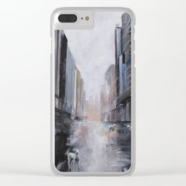 Lamb in the City Clear iPhone Case