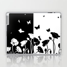 POPPIES AND BUTTERFLIES Laptop & iPad Skin