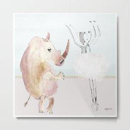 Rinoceronte fuori tempo Metal Print