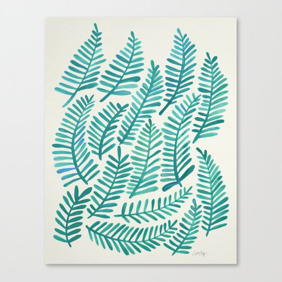 Green Fronds Canvas Print