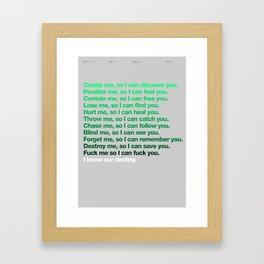 My greatest hero V2 Framed Art Print
