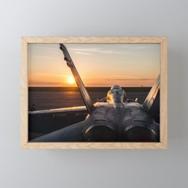FA-18 Hornet Framed Mini Art Print
