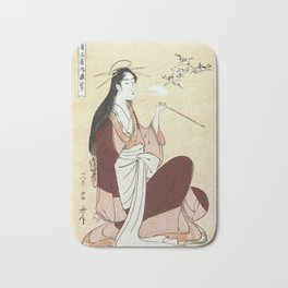 Komurasaki, a courtesan from the Tsunotamaya house  Bath Mat