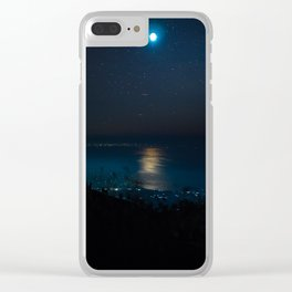 Dreamy Moon Light Clear iPhone Case