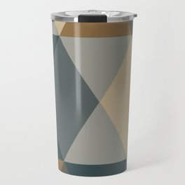 Caffeination Geometric Hexagonal Repeat Pattern Travel Mug