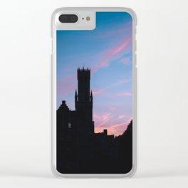Belgium. Brugge. Sunset. Clear iPhone Case