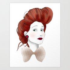 Fashion Illustration - Really? Art Print