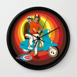 'Scooter Pair' Subway Soul by Dawn Carrington Wall Clock