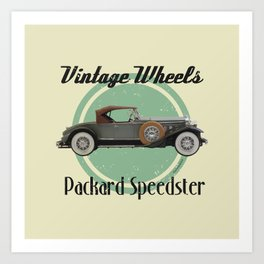 Vintage Wheels - Packard Boattail Speedster Art Print