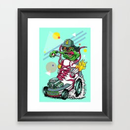 RIDE IT, KICK IT! Framed Art Print