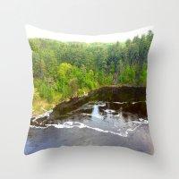 minnesota Throw Pillows featuring Minnesota Daybreak by JayKay