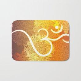 Indian ornament pattern with ohm symbol Bath Mat