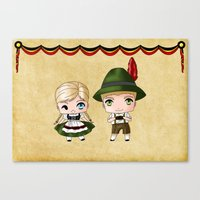 german Canvas Prints featuring German Chibis by artwaste