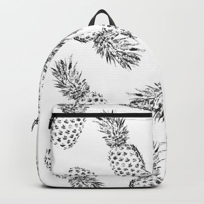Pineapples Black and White Backpack