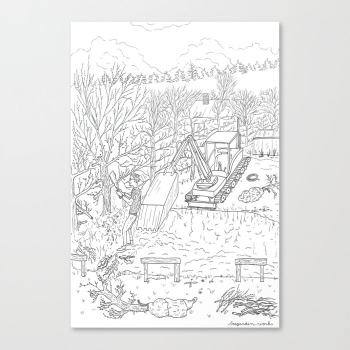 beegarden.works 013 Canvas Print