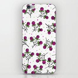 Rose Sprig Pattern iPhone Skin