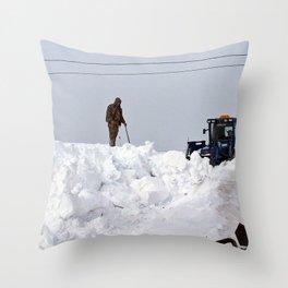 Coastal Snowbank Throw Pillow