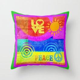 Love Peace Throw Pillow