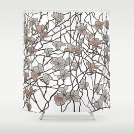 Pattern of Branches Pastel Colors Shower Curtain