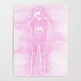 Harry Camera Pink Poster
