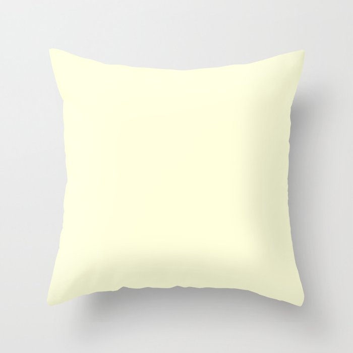 Colors of Autumn Ivory Solid Color Throw Pillow