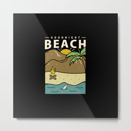 Goodnight Beach Metal Print