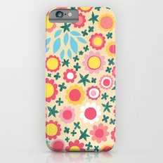 Crowded Colourful Flowers iPhone 6s Slim Case