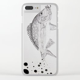 Yellow Tailed Snapper Clear iPhone Case