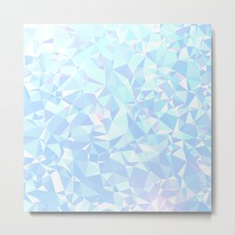 Abstract Ice Diamond Pattern Metal Print