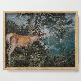 The Mountain Deer - Landscape and Nature Photography Serving Tray