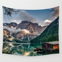 Italy mountains lake Wall Tapestry