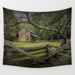 Oliver Log Cabin in Cade's Cove Wall Tapestry