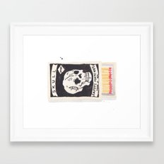 Skull Matchbox Framed Art Print