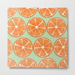 Orange pattern 06 Metal Print