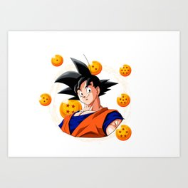 Goku Dragon Ball Super balls symbol Art Print
