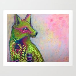 Wild Side Fox Art Print