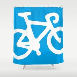 Blue Bike Shower Curtain