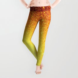 Golden Sun Stars Leggings