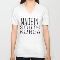 korea V-neck T-shirts featuring Made In South Korea by VirgoSpice