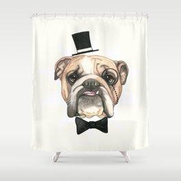 English Bulldog - livin' la vida bulldog Shower Curtain