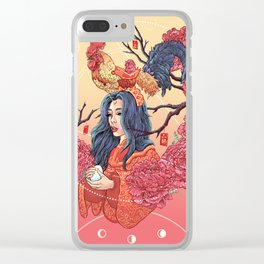 Rooster Year Clear iPhone Case