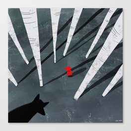 Red Riding Hood and the wolf Canvas Print