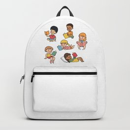 Kids Reading Books Backpack