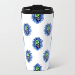 Green Plant Bubble Travel Mug