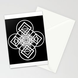 Diamonds Over not Quite Spades Midnight Version Stationery Cards