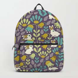 Bunnies Amid Enchanted Tulips Backpack