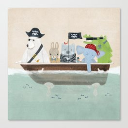 the pirate tub Canvas Print